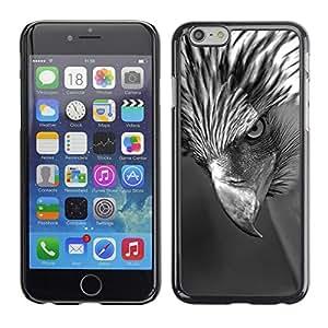 Intenso Hawk Pico Ojo Negro Blanco- Metal de aluminio y de plástico duro Caja del teléfono - Negro - iPhone 6