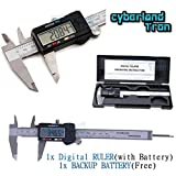 6 inch / 150mm Stainless Steel Electronic LCD Digital Vernier Caliper Gauge Micrometer 0-6'' Range with Carrying Case