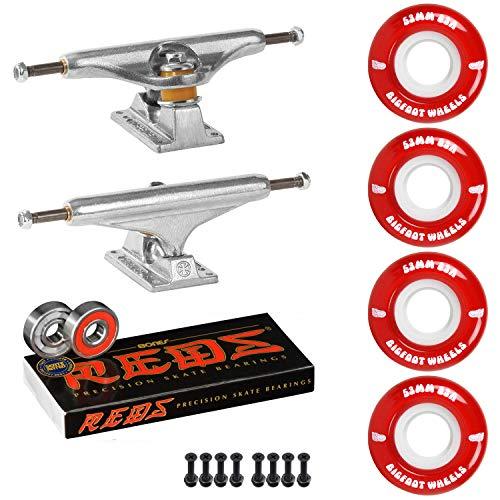 Skateboard Package Independent 129 Trucks 53mm 83A Red Cruiser Wheels Bones Reds