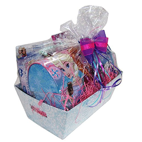 Easter Gift Basket Idea 10 Frozen Themed Items for Girls With Bracelet, Novelties, Tin Purse, Diary, Nail and Hair Accessories by SKash26ani (Image #3)