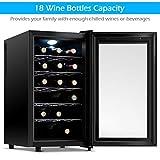 COSTWAY Wine Cooler, 18 Bottles Freestanding
