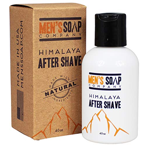 Aftershave for Men 4.0 oz After Shave Balm Made With Organic and Natural Vegan Plant Ingredients - Post Shave Lotion for Sensitive Skin Eliminates Razor Burns, Calms Irritation & Cools Skin, Himalaya
