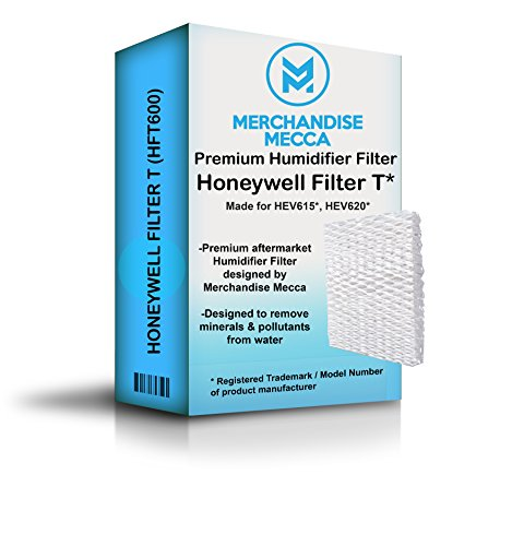 Merchandise Mecca Compatible Replacement for HFT600 Humidifier Compatible Filter, Filter T - Made for HEV615 and HEV620 Models (One Filter)