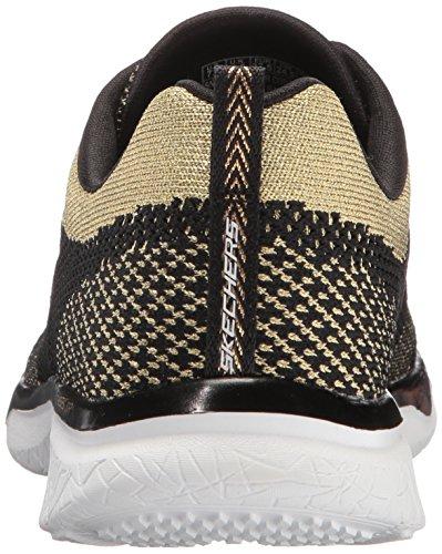 Snechers Sport Studio delle donne Burst Sneaker di moda reale di realt�, oro nero