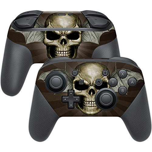 MightySkins Skin Compatible with Nintendo Switch Pro Controller - Skeletor | Protective, Durable, and Unique Vinyl Decal wrap Cover | Easy to Apply, Remove, and Change Styles | Made in The USA