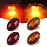 Catinbow Side Fender Marker 2 4 3 Diodes Side Marker Dually Bed LED Lights for 1999 2010 Ford F350 F450 F550 2 Amber & 2 Red