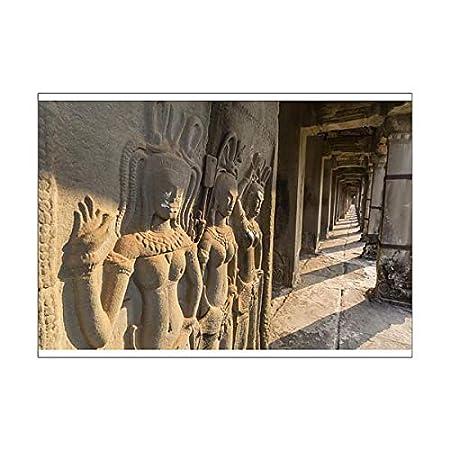 Robert harding a poster of bas relief carvings of apsara angkor