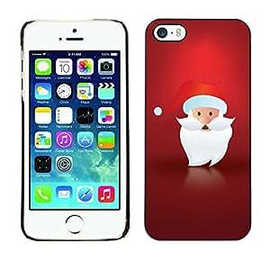 YOYO Slim PC / Aluminium Case Cover Armor Shell Portection //Christmas Holiday Minimalist Santa Claus 1255 //Apple Iphone 5 / 5S