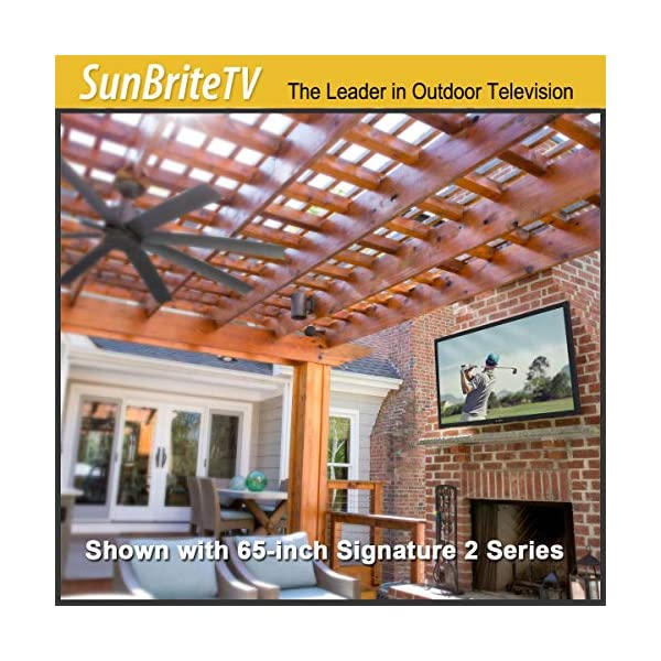 SunBrite 55-Inch Outdoor Television 4K with HDR - Signature 2 Series - for Partial Sun SB-S2-55-4K-BL (55-inch, Black) 3