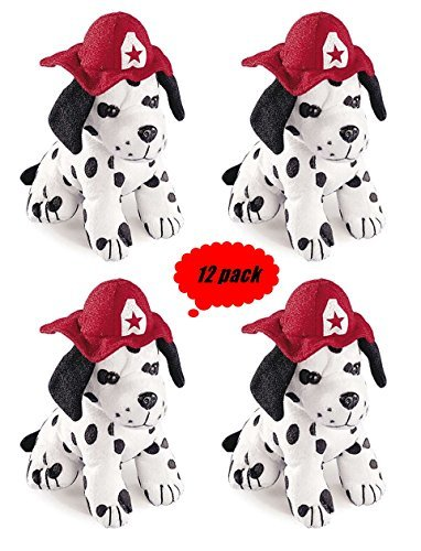 (Set of 12 Plush DALMATION puppy Dogs - 7 inch size)