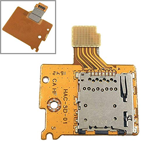 (Canamite TF SD Card Slot Socket Reader Flex Cable Board for Nintendo Switch NS NX Console 2017 Repair Par)
