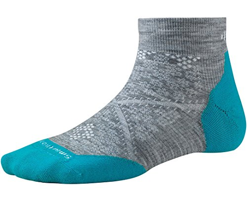 Womens Elite Pant (Smartwool Women's PhD Run Light Elite Low Cut Socks (Light Gray/Capri) Medium)