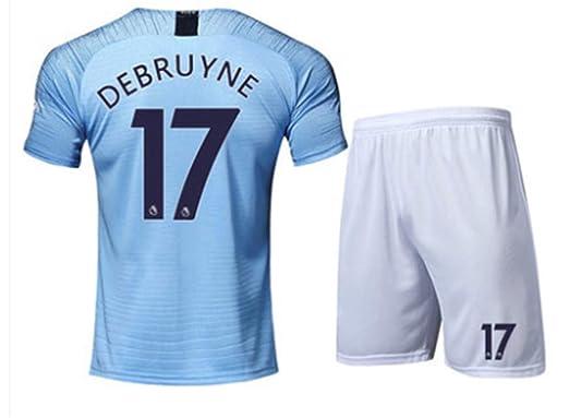 816f1e8f1 LISIMKE Soccer Team 2018 19 Manchester City Home Kevin De Bruyne 17 Mens  Replica Jersey