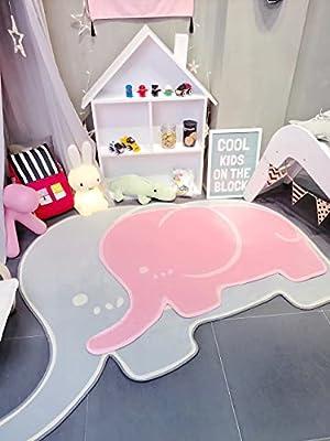 MineDecor Elephant Kids Rugs Animal Baby Play Crawl Mat Area Rug Children Carpet For Bedroom Living Room Playroom 5 x 7