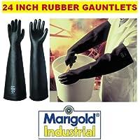 MARIGOLD EMPEROR ME108 - 24 INCH INDUSTRIAL RUBBER GLOVES GAUNTLETS - 8.5 M by Marigold Industrial