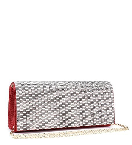 Foldover Dressy Ladies Party N14 Bags Womens Clutch Diamante Evening Occasion Prom Red EUfYpFwx