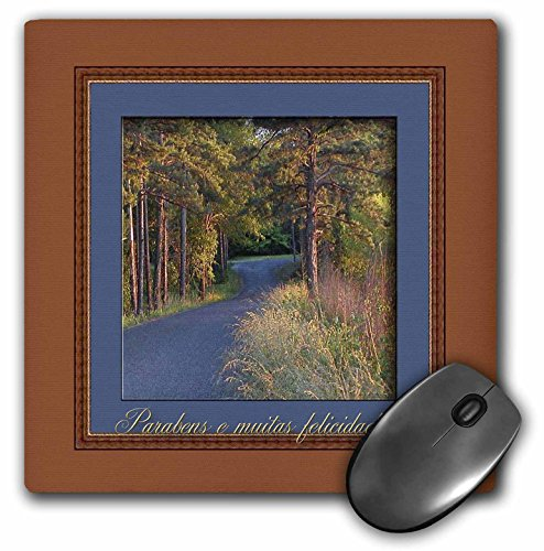 3dRose Colors at Sundown Parabens E Muitas Felicidades Happy Birthday in Portuguese (Brazil) Mouse Pad (mp_43366_1)