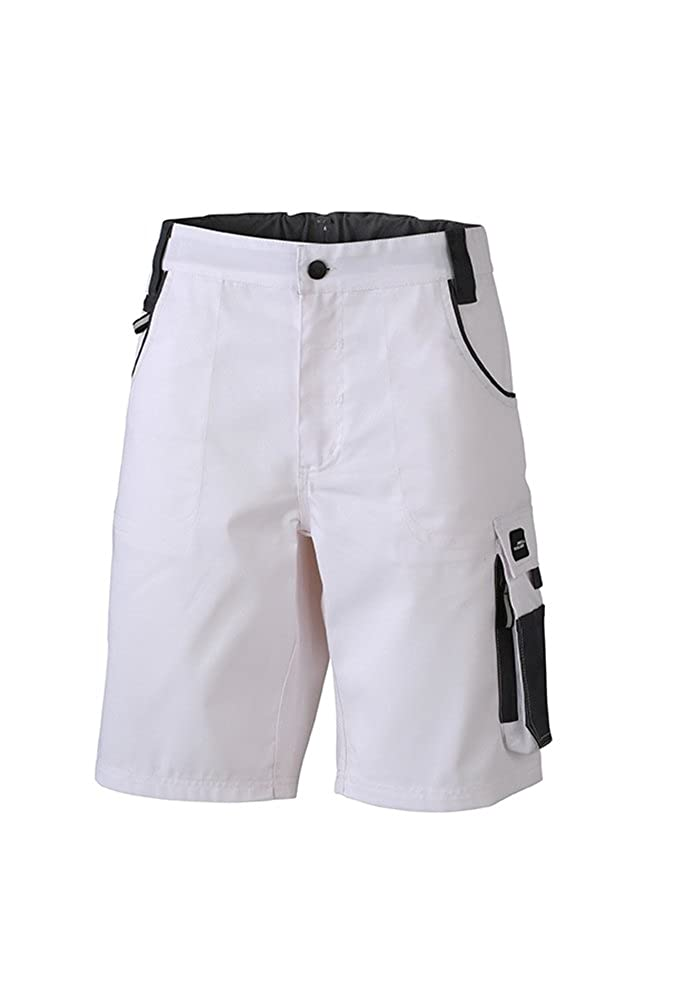 Pantaloncini da lavoro con dettagli funzionali