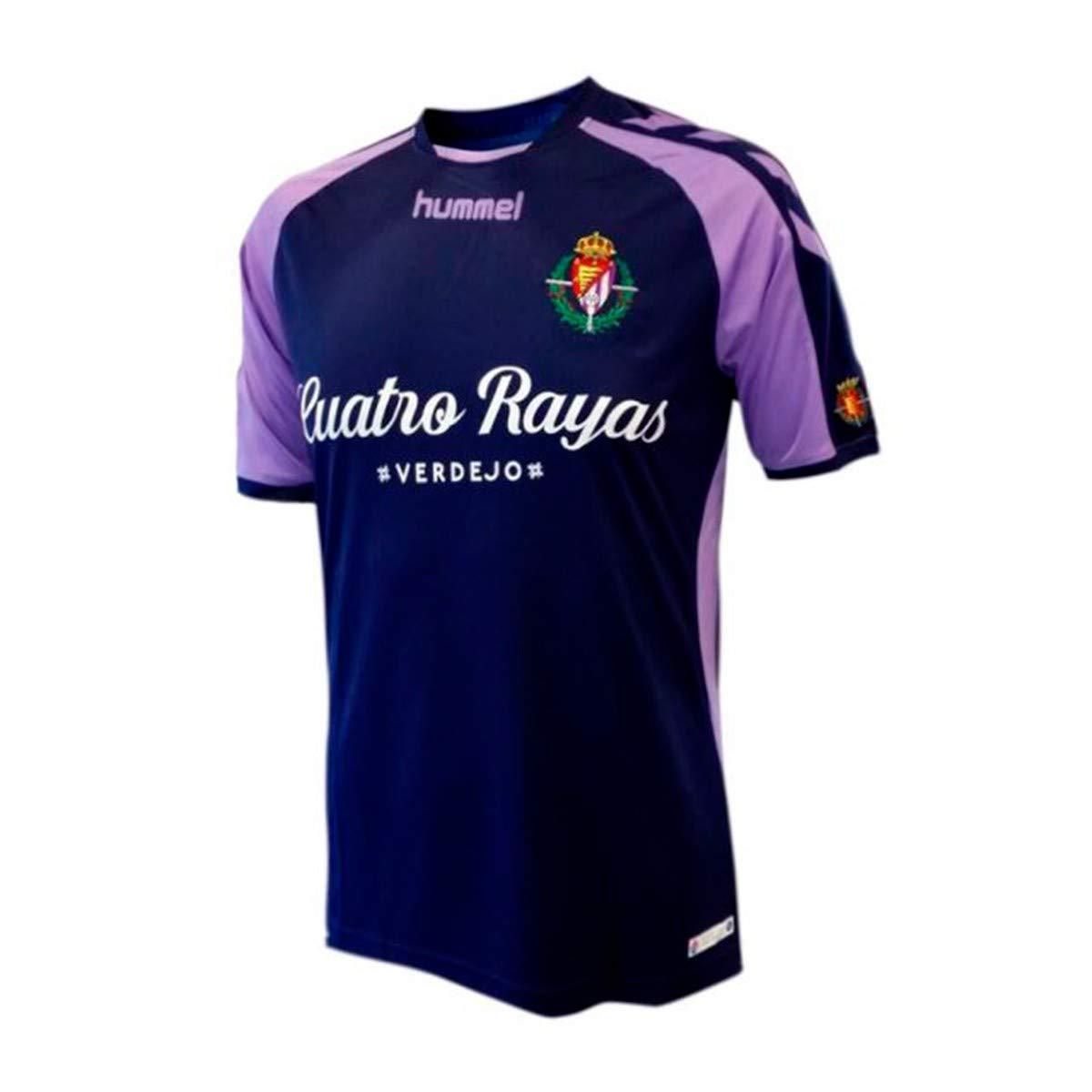 Hummel Real Valladolid CF Segunda Equipación 2018-2019, Camiseta, Marino-Violeta: Amazon.es: Deportes y aire libre