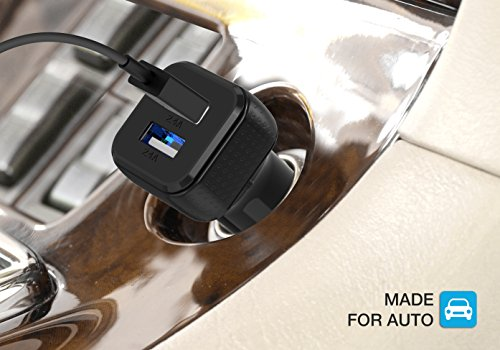 Car Charger, Maxboost 4.8A/24W 2 USB Smart Port Charger [Black] For iPhone X 8 7 6S 6 Plus, 5 SE 5S 5 5C, Galaxy S9 S8 S7 S6 Edge, Note 8 4, LG G6 G5 V10 V20, HTC,Nexus 5 X 6P,Pixel,iPad Pro Portable