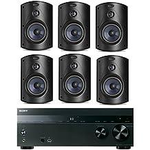 Sony 5.2-Channel 725-Watt 4K A/V Home Theater Receiver + Polk High-Performance Surround Sound 2-Way Indoor/Outdoor Weatherproof Speaker System (Set Of 6)