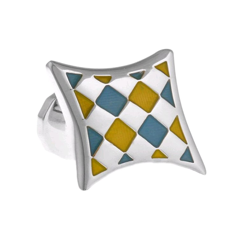 NovoGifts Colorful Ling Plaid Cufflinks with a Presentation Box