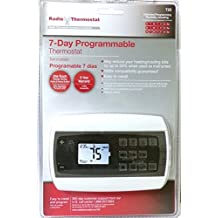 Radio Thermostat T22 Digital 7 Day Programmable Thermostats for Furnace AC in Home Electronic Programable. Makes Temperature in Homes Easy to Heat and Cool. Keep House A C Heat Pump Electric Bill Low.