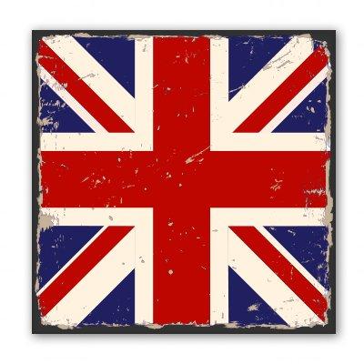 Vintage British Flag Grunge Vinyl Sticker - SELECT SIZE ()