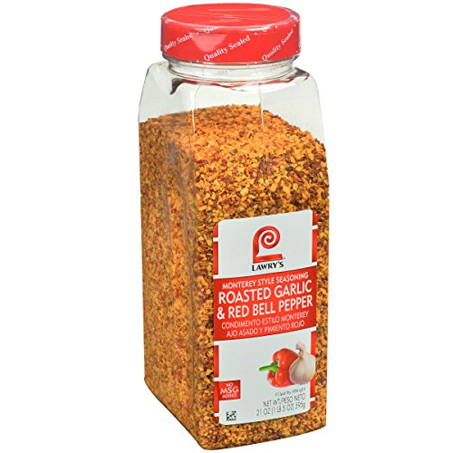 - Lawry's Roasted Garlic and Red Bell Pepper Monterey Style Seasoning, 21 Ounce