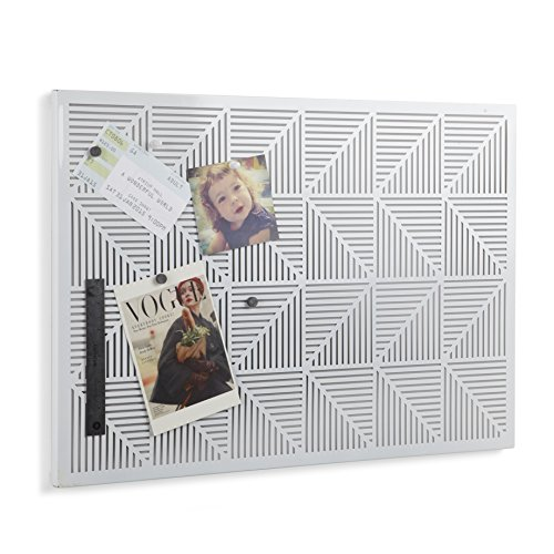 Umbra Trigon Metal Bulletin Board, White (Bulletin Modern Board)
