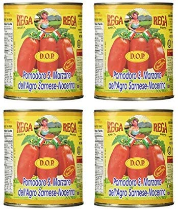 - San Marzano DOP Authentic Whole Peeled Plum Tomatoes (4 Pack)