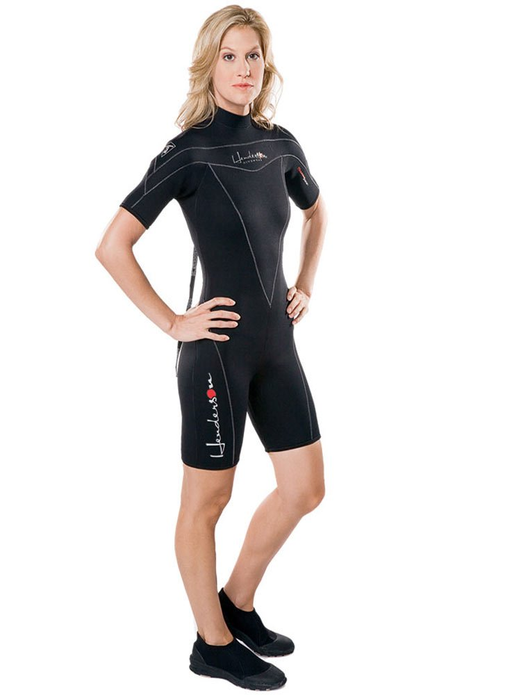 Henderson Woman Thermoprene 3mm Shorty (Back Zip) Scuba Diving Wetsuit-Black-12