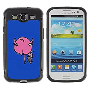 """Pulsar iFace Series Tpu silicona Carcasa Funda Case para Samsung Galaxy S3 III I9300 , Flor pintada azul del patín del monstruo"""""""