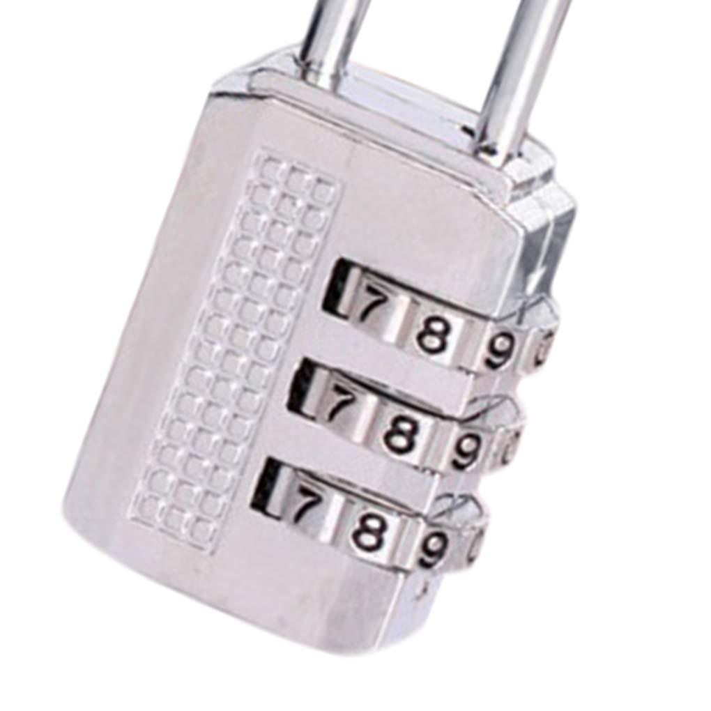 3 Chiffres Combinaison de Zinc de s/écurit/é par Mot de Passe Alliage Verrouillage Valise Bagages Coded Verrouillage Cabinet Locker Padlock Regard