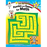 Puzzles and Games for Math, Grade 3: Gold Star Edition