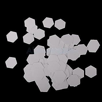 amazon com 100 pieces hexagon english paper piecing quilting