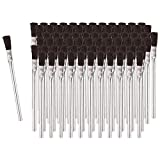 Acid Glue Brushes Made With Horse Hair Bristles,Tin, Metal Tubular Ferrule Handle, Acid, Flux Brushes for Home, School, Shop, Garage (72)