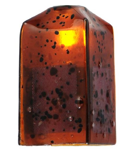 Shade Glass Draped Lamp - MEYDA 19561 4 in. Square The Rock Draped Fused Glass Replacement Shade