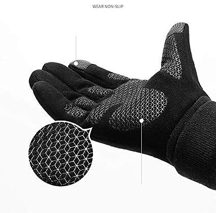 Unisex Running Gloves Touch Screen Anti-Slip Gloves Winter Warm Sports Gloves with Updated Thickend Fleece Lining