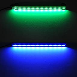 Amzdeal 12 Inch Aquarium Light Aquarium Led, Waterproof Fish Tank Light, RGB 16 Color 24 Led Strip with Remote Control