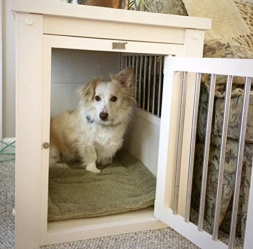 Hot Sale Small Breed Dog Kennel White End Table Cage