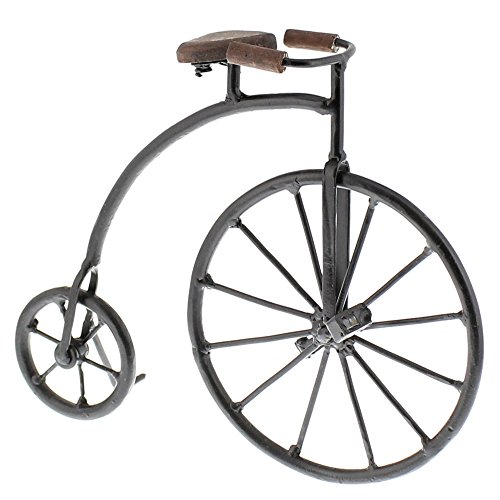 Old Fashioned Antique Style Bicycle Statue | Retro Vintage Iron ()