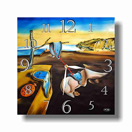 dudkaair Salvador Dalí - The Persistence of Memory 11.4'' Handmade Wall Clock - Get Unique décor for Home or Office - Best Gift Ideas for Kids, Friends, Parents and Your ()