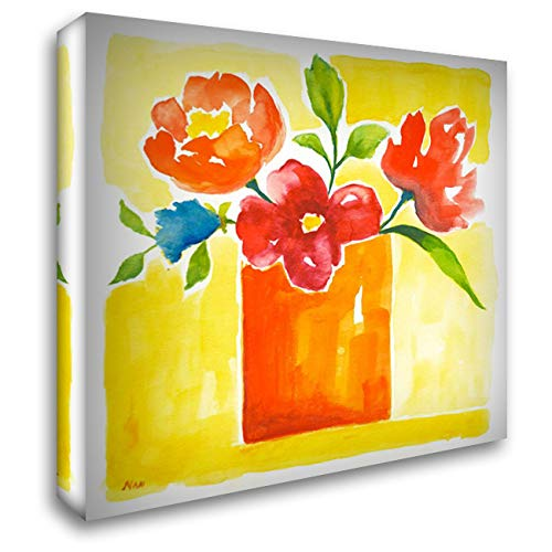 Sunny Day Bouquet II 48x48 Extra Large Gallery Wrapped Stretched Canvas Art by Nan