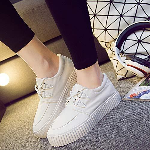 Basket Noir Epaisse Décontracté Femme Tennis Plateform Blanche Wealsex Semelle Toile Basse Blanc Sneakers Chaussure HndTtHwYq