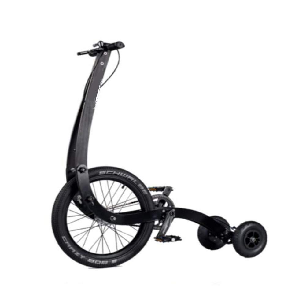 BTSSA Balance Bike Pieghevole Fitness Scooter Freno a U, capacità di autoico 90 kg