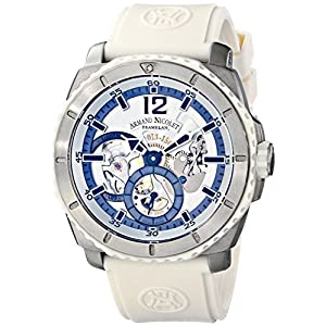 Armand Nicolet T619B-AG-G9610B - Reloj, Correa de Goma Color Blanco 3