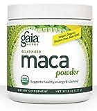 Gaia Herbs Gelatinized Vegan Maca Powder, 8 Ounce – Supports Energy and Stamina, USDA Organic, Gluten Free, Non-GMO Review