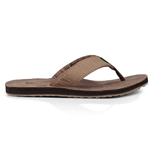 88d390fb2015 Sanuk Men s Burro Down Flip-Flop  Amazon.co.uk  Shoes   Bags