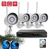 Funlux 4CH 720p HD Security Camera System Wireless Outdoor Surveillance Camera System with 500GB Hard Drive